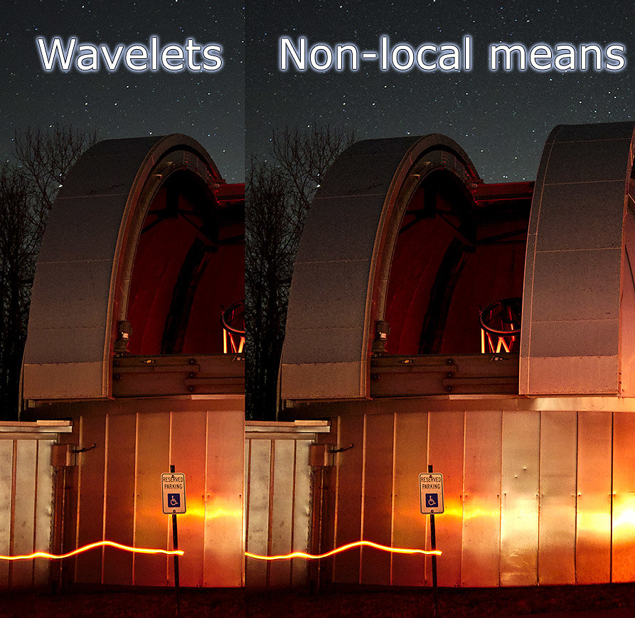 Wavelets vs Non-local Means